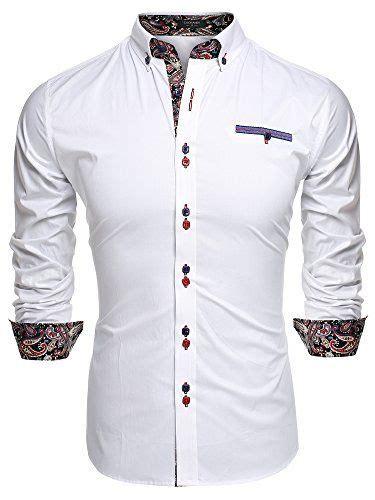 coofandy mens fashion slim fit dress shirt casual exotic
