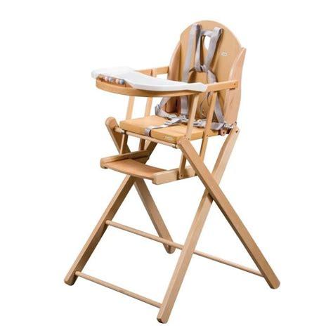 tineo chaise haute pliante bois vernis naturel vernis