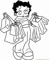 Coloring Betty Boop Shopping Pages Going Cartoon Printable Coloringpages101 Getcolorings Getdrawings Print sketch template