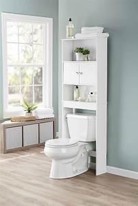 Over, The, Toilet, Storage, Organizer, Wood, Bathroom, Space, Saver, Towel, Rack, Cabinet, 43197160355
