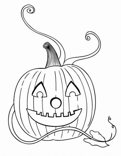 Pumpkins Lantern Jack Coloring Halloween