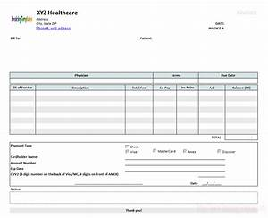 medical invoice template 2 With medical invoice template