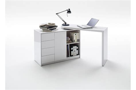 bureau moderne bureau moderne blanc avec rangement novomeuble