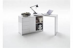 Bureau Blanc Avec Rangement : bureau moderne blanc avec rangement pour chambre enfant ado ~ Teatrodelosmanantiales.com Idées de Décoration