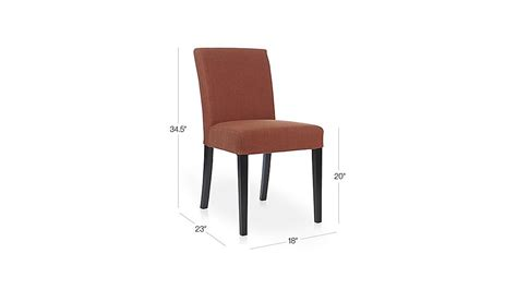 Crate And Barrel Lowe Chair Persimmon by Lowe Persimmon Upholstered Dining Chair Crate And Barrel