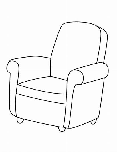 Chair Coloring Colouring Pages Christmas Chairs Books
