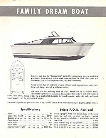 Dream Boat Contest by 1958 Dream Boat Evinrude Engine Contest