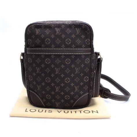 luxury fasion resale store rastro louis vuitton danube monogram mini lin cross body bags brown