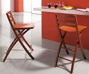 Chaise De Bar Pliable : chaise bar pliante cuisine en image ~ Nature-et-papiers.com Idées de Décoration