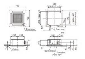 Mini Split Ceiling Cassette Dimensions by Split Ac Indoor Unit Dimensions Crafts