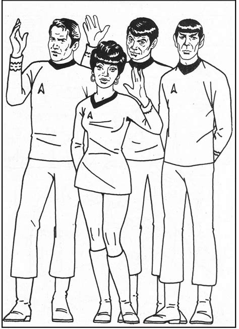 Coloring Crew by Trek Coloring Picture For Trek