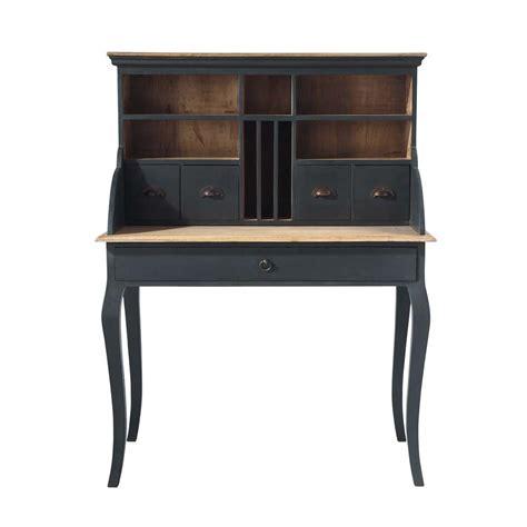 bureau secr 233 taire en bois noir l 102 cm chenonceau maisons du monde