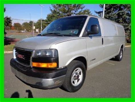 buy car manuals 2005 gmc savana 2500 engine control find used 2005 gmc savana 2500 extended cargo clean carfax v 8 auto no reserve auction in