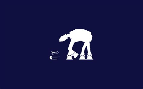 Star wars blue r2d2 at-at wallpaper