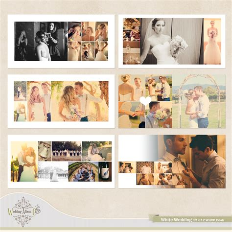 white wedding album template   software