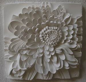Wall art decor ideas chrysanthemum brown white flower