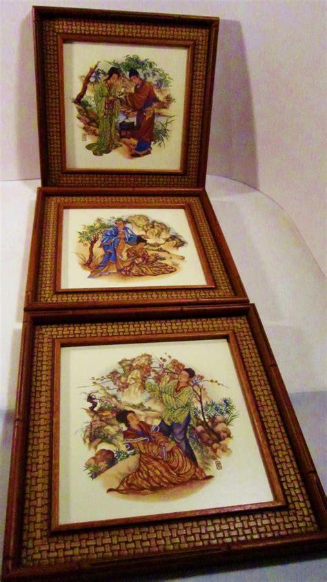 framed tile japanese style 1960s greenville south