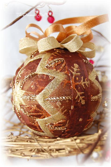 gold  bronze ornament gold  brown christmas ornament
