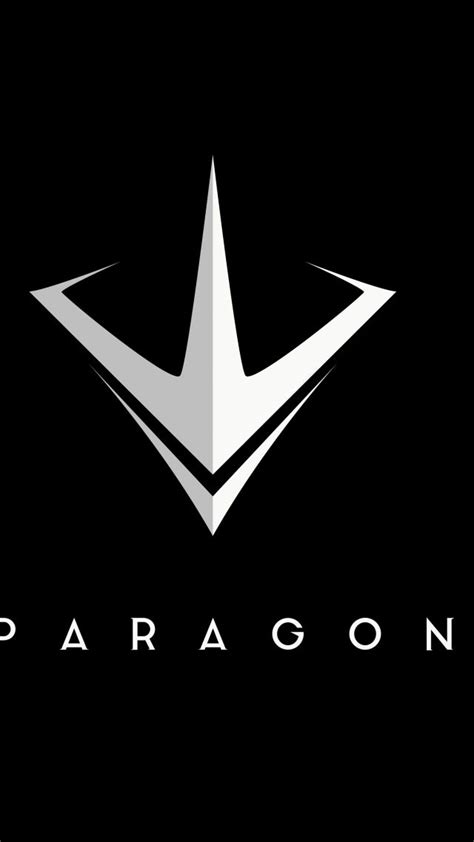 wallpaper paragon logo moba  games pc ps games