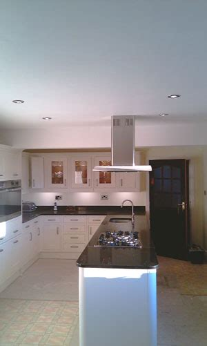 Electrician In Chester, Kitchen Rewire And Downlights