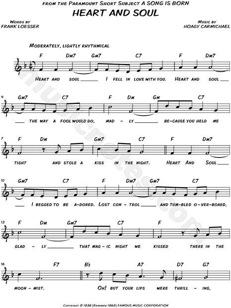 "Ode to joy (beginners) (beginners). Hoagy Carmichael ""Heart and Soul"" Sheet Music (Leadsheet ..."