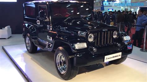auto expo 2018 mahindra thar customized by dc design is called dc hammer youtube