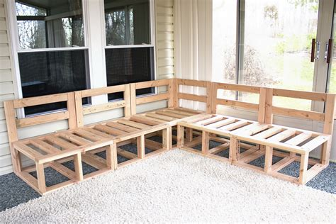 Outdoor Sectional Sofa Plans by Furniture Diy Modular Sectional Sofa For Outdoor With