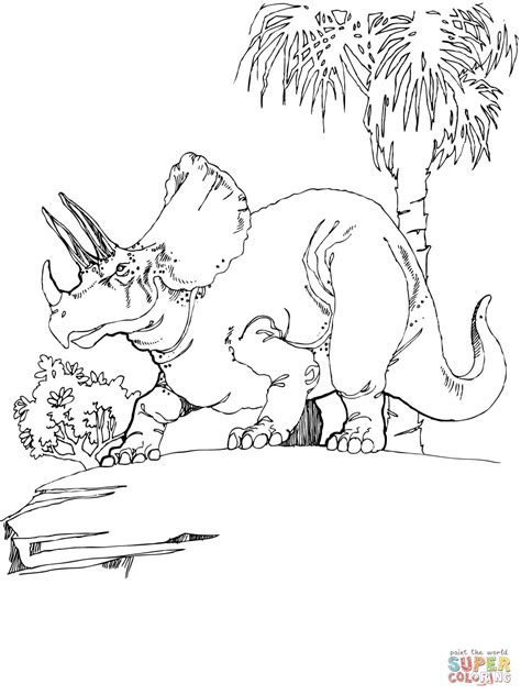 triceratops coloring page  printable coloring pages