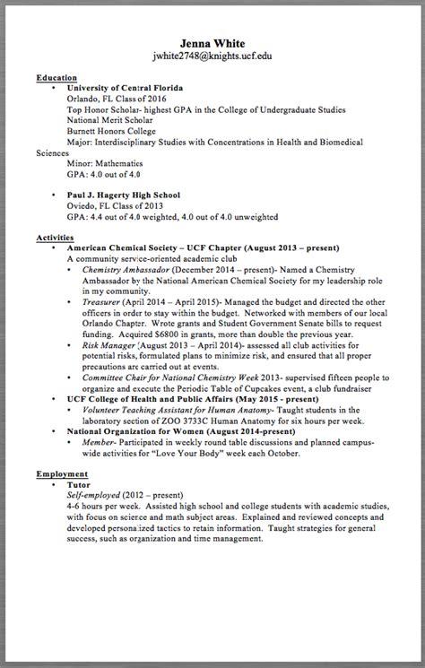 pin pa  resume sample