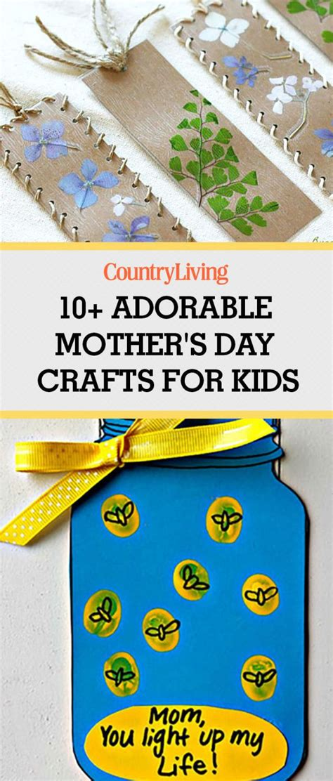 easy  thoughtful mothers day crafts  kids