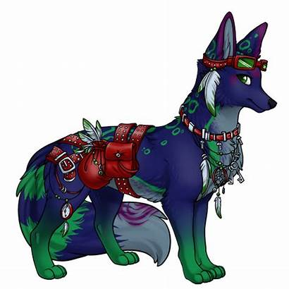 Creatures Drawings Sylestia Mystical Pet Fantasy Wolf