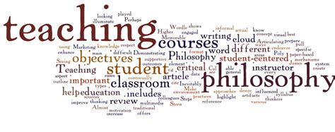 articulating  teaching philosophy random thoughts