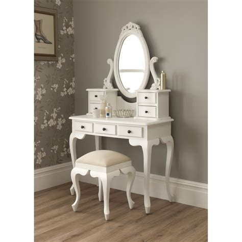 mirror vanity table bedroom luxurious white makeup vanity with drawers for