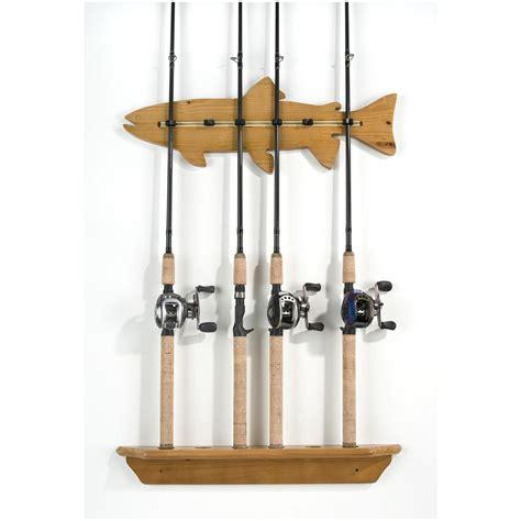 fishing rod rack organized fishing fish wall rod rack 200562 fishing rod
