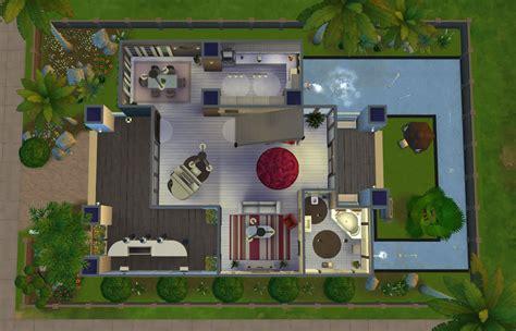sims  modern house floor plans