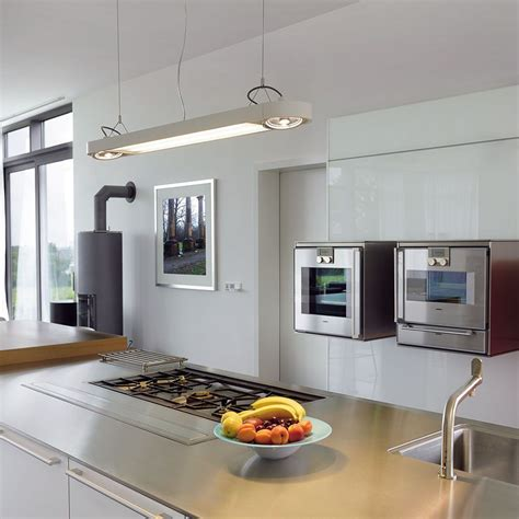 suspension cuisine design grande suspension moderne blanche en alu le avenue