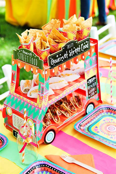 vibrant mexican fiesta birthday party adorable food