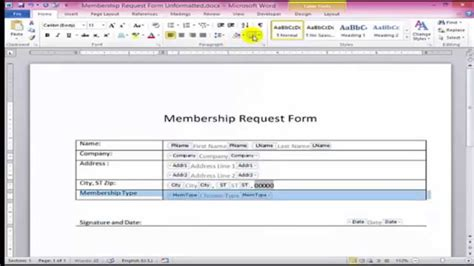 microsoft word fillable form how to create fillable forms in word youtube