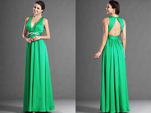 robe de soiree longue crepe de satin vert emeraude avec With robe emeraude