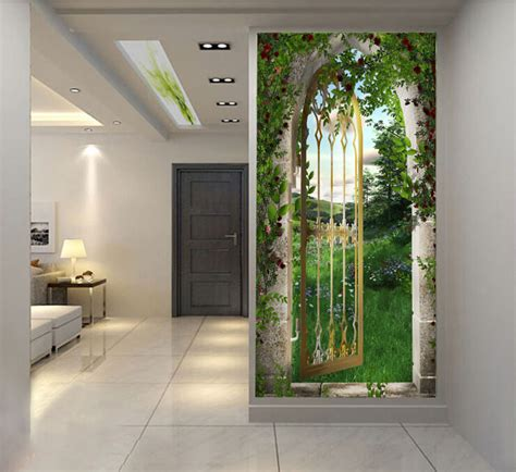 garden gate wallpaper  adhesive hd wallpaper