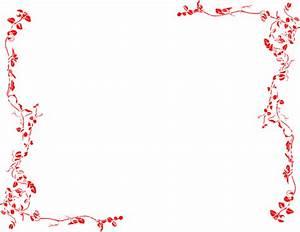 Red Vine Border Clip Art at Clker com vector clip art