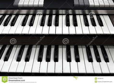 Top View Of A Church Organ Keyboard Stock Photo Image