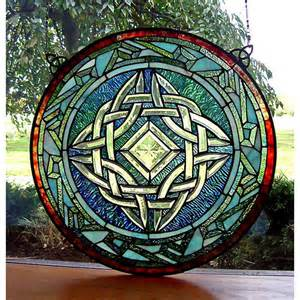 Celtic Knot Stained Glass Window