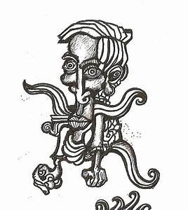 Angry Man Drawing by Juan Carlos Mejia