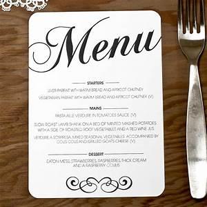 vintage wedding menu doodlelove With examples of wedding menu cards