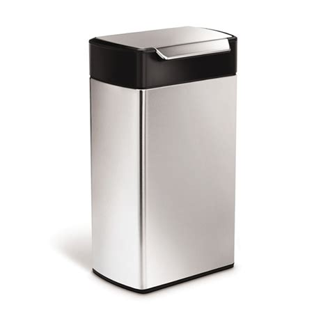 touch desk l stainless steel simplehuman 40l stainless steel touch bin