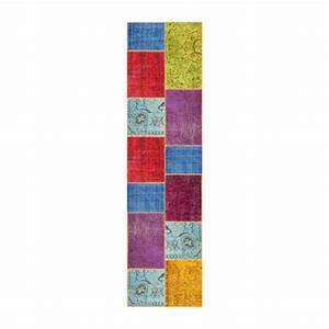 burling tapis en laine 80x300 multicolore habitat With tapis laine multicolore