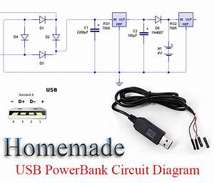 Homemade Portable Usb Mobile Charging Circuit Diagram