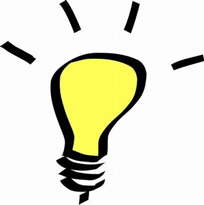 Clip Bulb Clipart Idea Bulbs Lightbulb Powerpoint