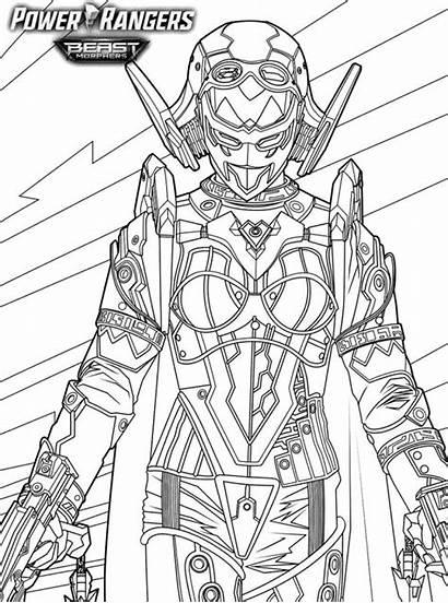 Roxy Rangers Beast Power Morphers Coloring Kleurplaat
